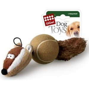 Игрушка GiGwi Dog Toys Squeaker барсук с 2-мя пищалками для собак (75075)