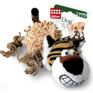 Игрушка GiGwi Dog Toys Squeaker тигр с пищалкой для собак (75098)