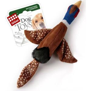 Игрушка GiGwi Dog Toys Squeaker птица с пластиковой бутылкой пищалка для собак (75225)