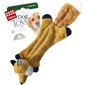 Игрушка GiGwi Dog Toys Squeaker шкурка лисы с пищалками для собак (75261)