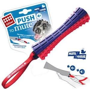 Игрушка GiGwi Push to Mute Squeak Johny Stick палка с отключаемой пищалкой для собак (75323) цена 2017