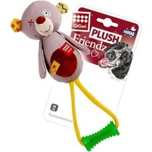 Игрушка GiGwi Plush Friendz Squeak медведь с пищалкой для собак (75348)