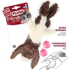 Игрушка GiGwi Plush Friendz Squeak заяц с 2-мя пищалками для собак (75353)