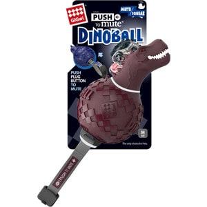 Игрушка GiGwi Push to Mute Dinoball Squeak динозавр с отключаемой пищалкой для собак (75393) игрушка для собак squeak