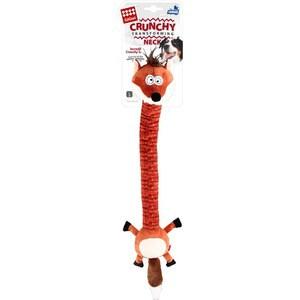 Игрушка GiGwi Crunchy Transforming Neck Incredit Sl лиса с пищалкой для собак (75414)