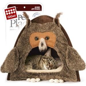 Домик GiGwi Сова для кошек и собак 38х38х40см (75061) лежанка для кошек и собак gigwi собака 55 х 45 см