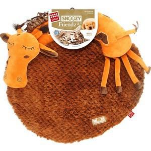 Лежанка GiGwi Snoozy Friendz Warm&Comfort лежанка 3D жираф для кошек и маленьких собак 57см (75416)