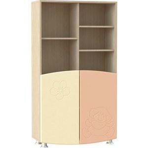 Шкаф для книг Compass ДК-4К абрикос шагрень/ваниль шагрень