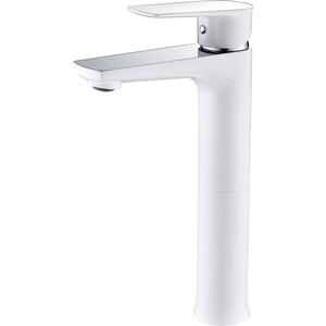 Смеситель для раковины Kaiser Atrio высокий, белый/хром (60033) смеситель для раковины kaiser atrio хром 60111