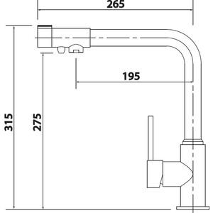 Смеситель для кухни Kaiser Teka под фильтр, черный глянцевый (13044-2) 2