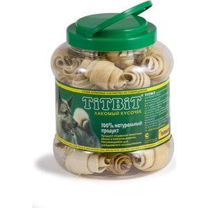 Лакомства TitBit Сухие лакомства из субпродуктов рогалики кожи с начинкой для собак 4,3л (008096/0264)