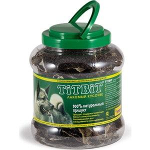 Лакомства TitBit Сухие лакомства из субпродуктов для собак лакомый кусочек рубец говяжий 4,3л (8829/4052) цена