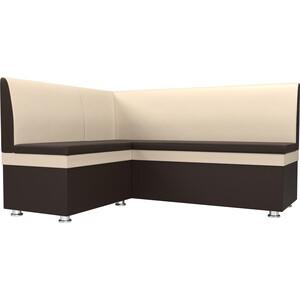 Кухонный уголок Мебелико Уют эко-кожа бежево-коричневый левый кушетка мебелико принц эко кожа бежево коричневый левый