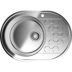 Кухонная мойка Omoikiri Kasumigaura 65-1-L нержавеющая сталь (4993008) omoikiri mizu 71 1 l