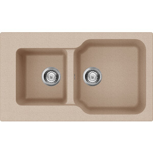 Кухонная мойка Omoikiri Maru 86-2-SA бежевый (4993286)