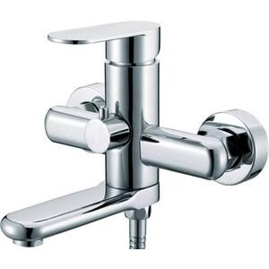 Смеситель для ванны Kaiser Arena короткий излив с душем, хром (33022)