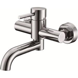 Смеситель для ванны Kaiser Merkur короткий излив поворотный с душем, хром (26055)