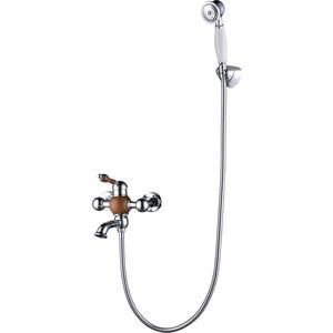 Смеситель для ванны Kaiser Wood короткий излив, хром/дерево (61022)