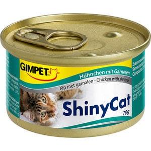 Консервы Gimborn Gimpet ShineCat Chicken with Shrimp цыпленок с креветками для кошек 70г (413327) корм для кошек gimpet shiny cat цыпленок конс 70г