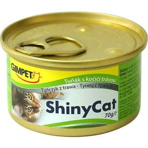 Консервы Gimborn Gimpet ShineCat тунец с травой для кошек 70г (413365) корм для кошек gimpet shiny cat цыпленок конс 70г