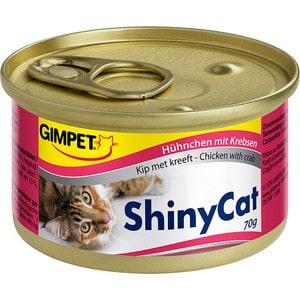 Консервы Gimborn Gimpet ShineCat Chicken with Crab цыпленок с крабом для кошек 70г (413334) корм для кошек gimpet shiny cat цыпленок конс 70г