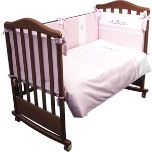 Комплект в кроватку Сонный Гномик Прованс 3 предмета розовый 369/2 цена