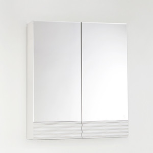 Зеркальный шкаф Style line Ассоль 60 техно платина (2000949082288)