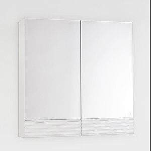Зеркальный шкаф Style line Ассоль 70 техно платина (2000949082295)