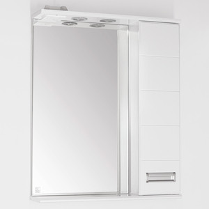Зеркало-шкаф Style line Ирис 65 с подсветкой, белый (2000948995435)