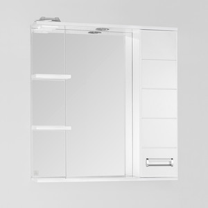 Зеркало-шкаф Style line Ирис 75 с подсветкой, белый (2000948995299)