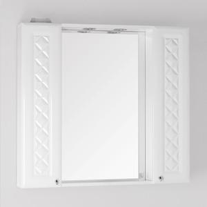 Зеркало-шкаф Style line Канна Люкс 90 с подсветкой, белый (2000949015231)