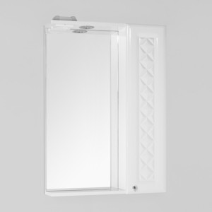 Зеркало-шкаф Style line Канна Люкс 60 с подсветкой, белый (2000949080376)