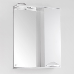 Зеркало-шкаф Style line Жасмин 60 с подсветкой, белый (2000949002699)