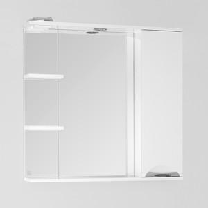 Зеркало-шкаф Style line Жасмин 80 с подсветкой, белый (2000948998061)