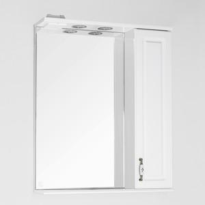 Зеркало-шкаф Style line Олеандр-2 Люкс 65 с подсветкой, белый (2000949070513)