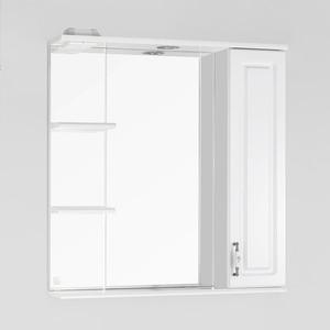 Зеркало-шкаф Style line Олеандр-2 Люкс 75 с подсветкой, белый (2000949041056)