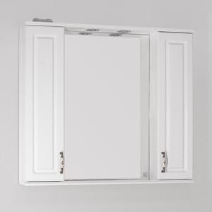 Зеркало-шкаф Style line Олеандр-2 Люкс 90 с подсветкой, белый (2000949041599)