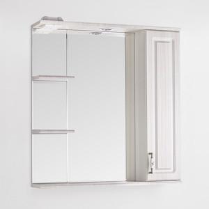 Зеркало-шкаф Style line Олеандр-2 Люкс 75 с подсветкой, рельеф пастель (2000949059686)
