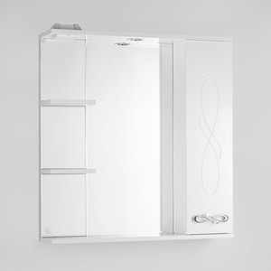 Зеркало-шкаф Style line Венеция 75 с подсветкой, белый (2000949070209)