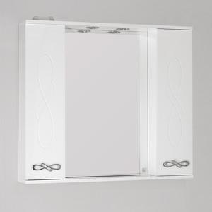 Зеркало-шкаф Style line Венеция 90 с подсветкой, белый (2000949061993)