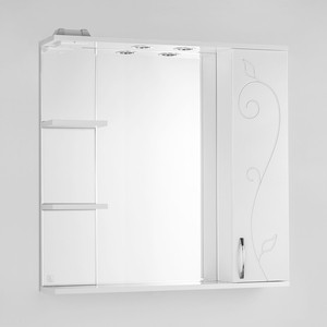 Зеркало-шкаф Style line Панда Фьюжн 80 с подсветкой, белый (2000949054674)