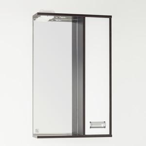Зеркало-шкаф Style line Панда Стиль (W) 50 с подсветкой, венге (2000949072036)