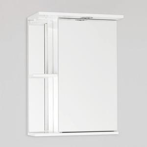 Зеркальный шкаф Style line Николь 50 с подсветкой, белый (4603720651420) зеркальный шкаф style line эко волна лорена 55 с с подсветкой белый глянец