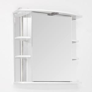 Зеркальный шкаф Style line Лира 70 с подсветкой, белый (2000941440017)