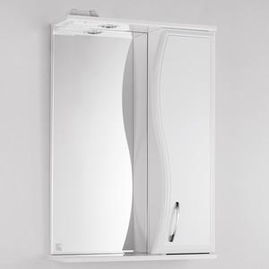 Зеркало-шкаф Style line Панда Волна 55 с подсветкой, белый (2000949078557)