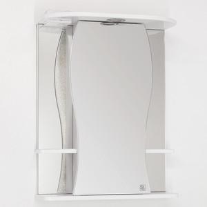 Зеркальный шкаф Style line Лорена 55 с подсветкой, белый (4650134470314) фото