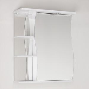 Зеркальный шкаф Style line Эко Волна 60 с подсветкой, белый (2000001713181)