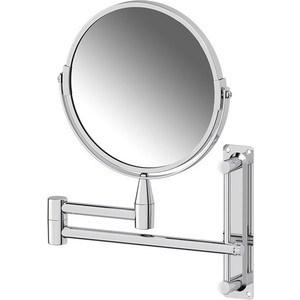 Зеркало косметическое Sorcosa Plain двустороннее, с увеличением x2, хром (SOR 001)