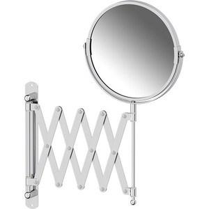 Зеркало косметическое Sorcosa Plain двустороннее, с увеличением x2 хром (SOR 002)