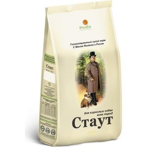 Сухой корм Стаут Гипоаллергенный с мясом ягненка и рисом для взрослых собак всех пород 15кг (СТ-14)